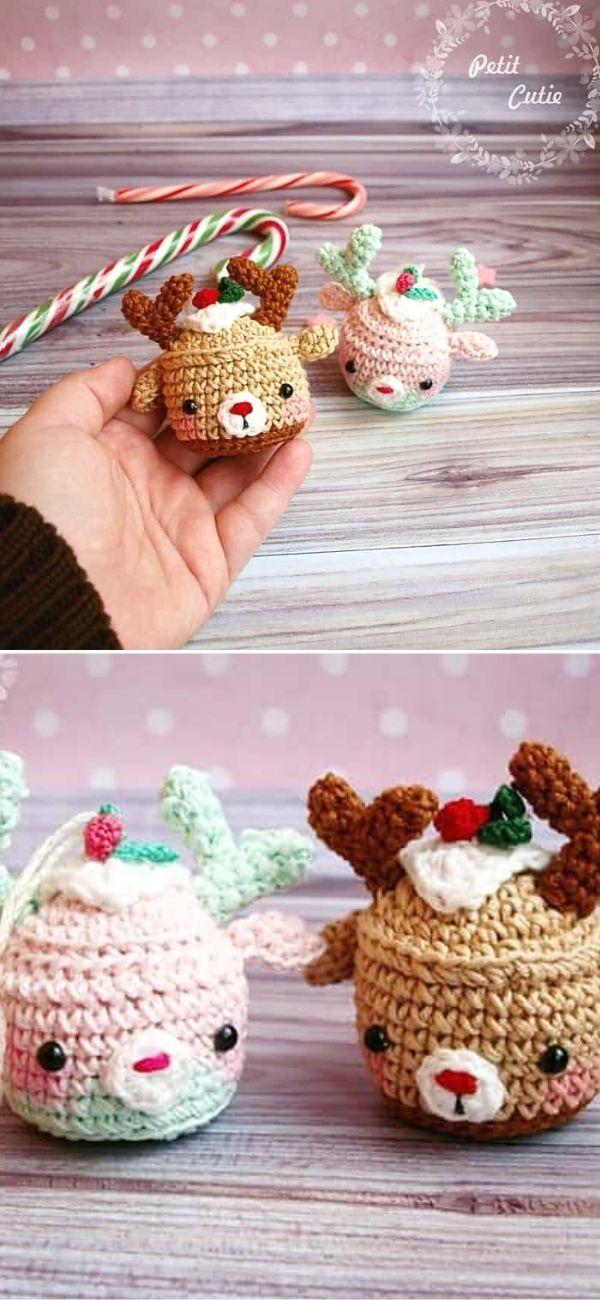 Christmas deer cupcake