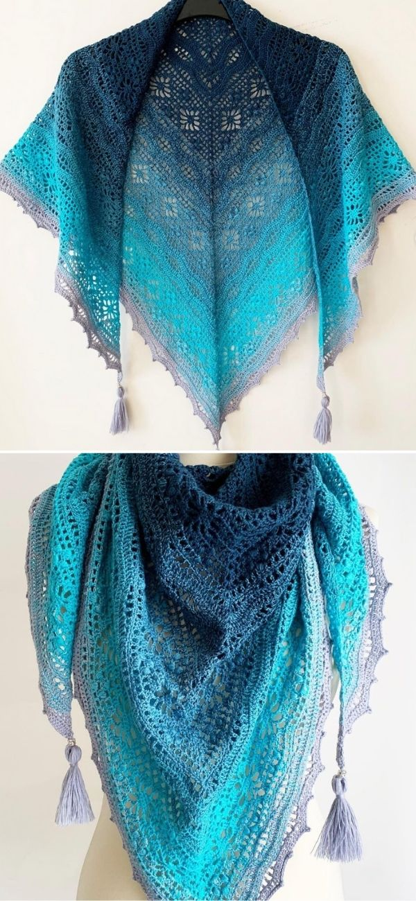 Daisy Chain Shawl 3