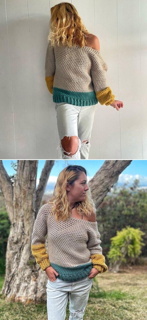 Easy Crochet Pullover
