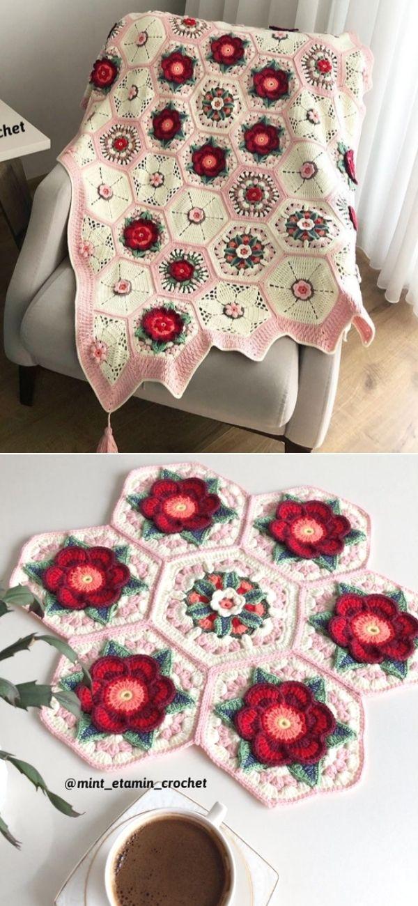 Frida's flowers blanket 3
