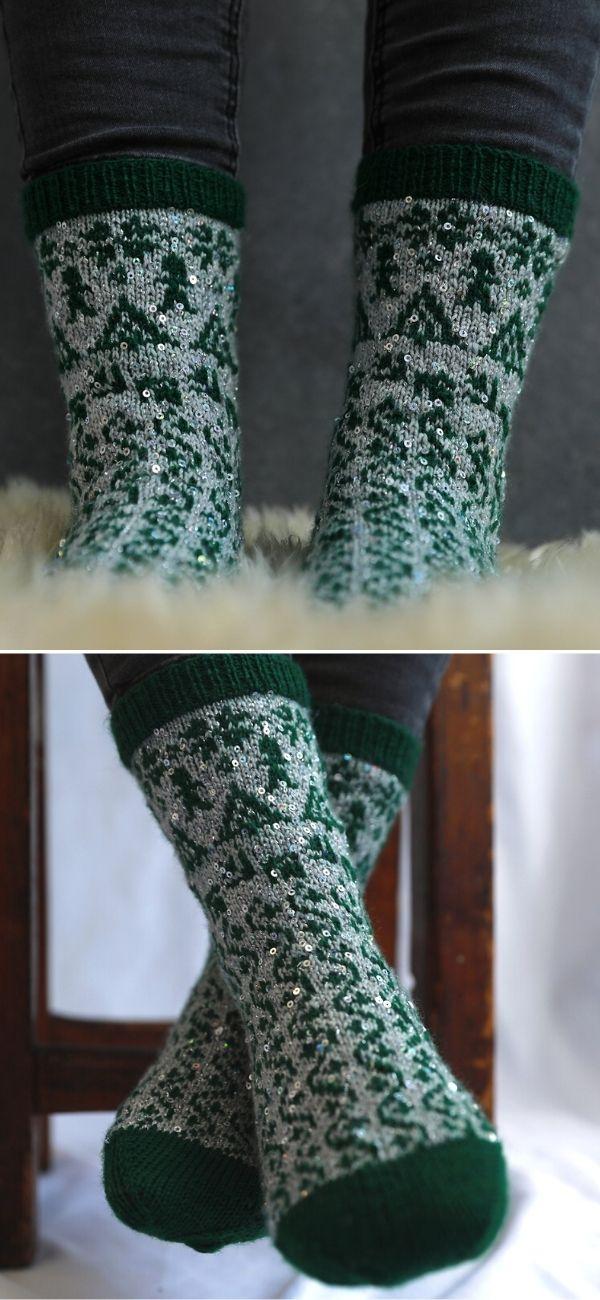 Rocking Around The Christmas Tree Socks