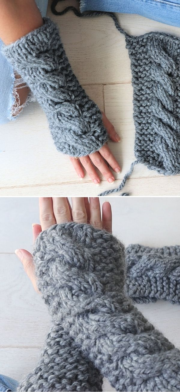 Super Chunky Fingerless Gloves