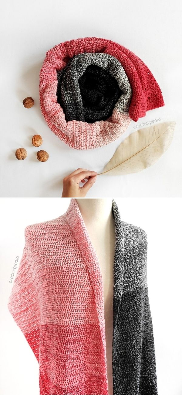 The Easiest Ombre Scarf