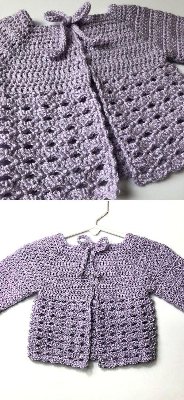 Black Raspberry Baby Sweater