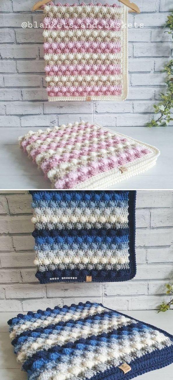 blackberry bobble blanket