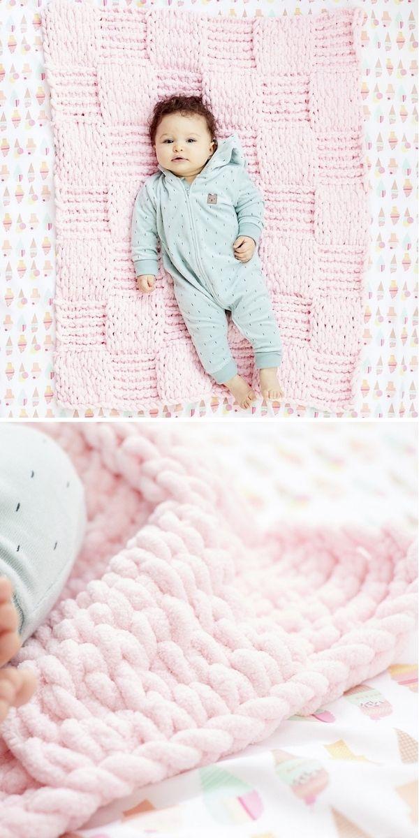 Blankie de bebê em tabuleiro de damas