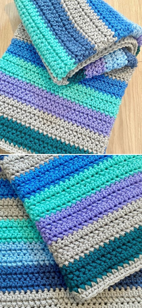 Cool Chunky Stripes Blanket