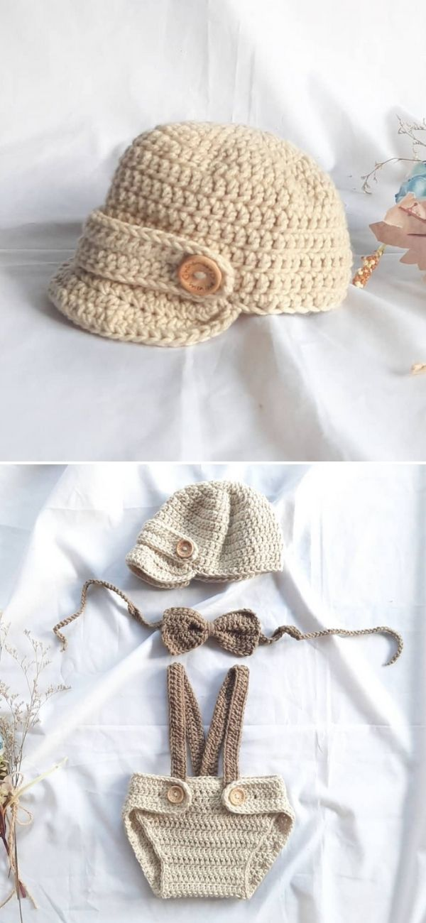 Cute and Easy Newsboy Cap:Hat