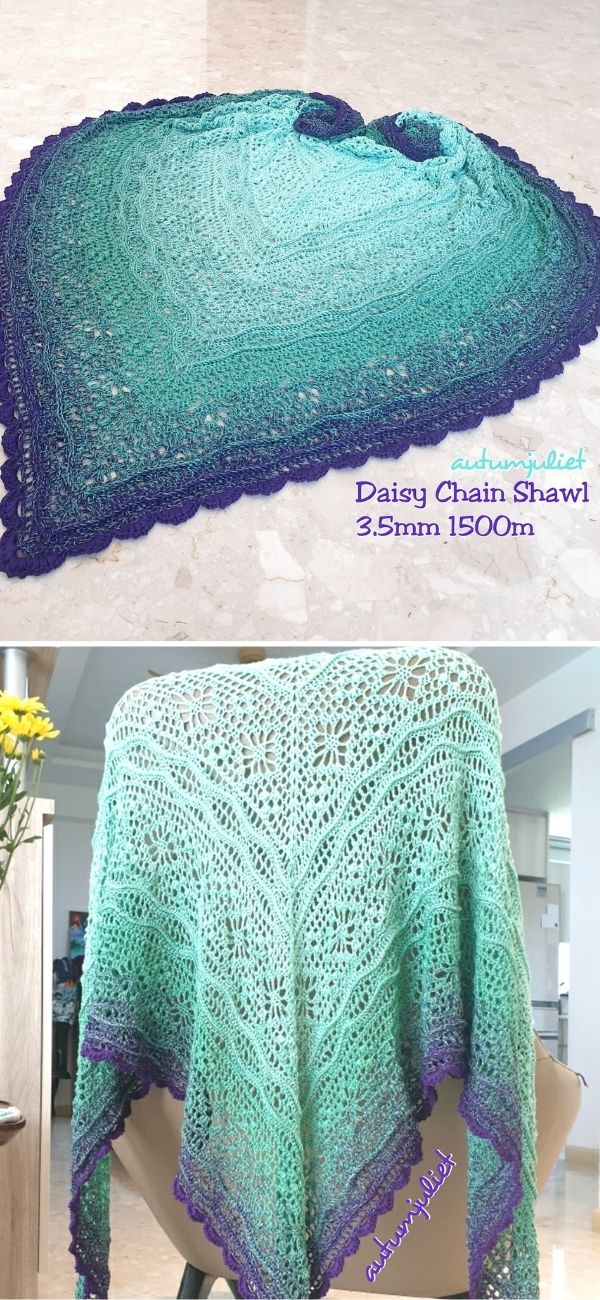 Daisy Chain Shawl 2