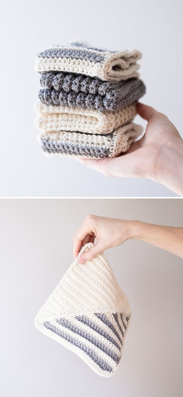 Modern Stripe Dishcloth