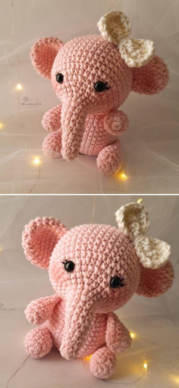 Pink Crochet Elephant Pattern