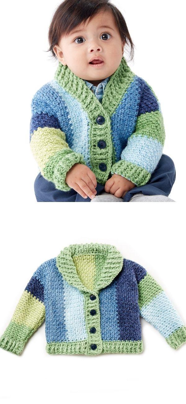 Shawl Collar Baby Cardigan