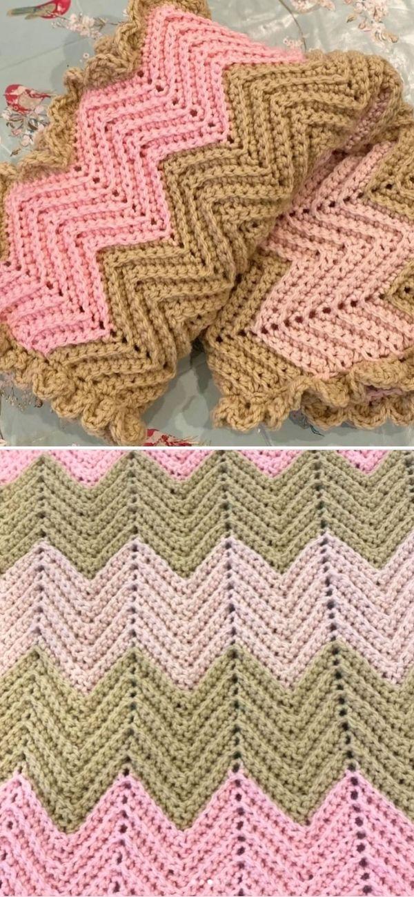 Zig Zag Baby Crochet Blanket