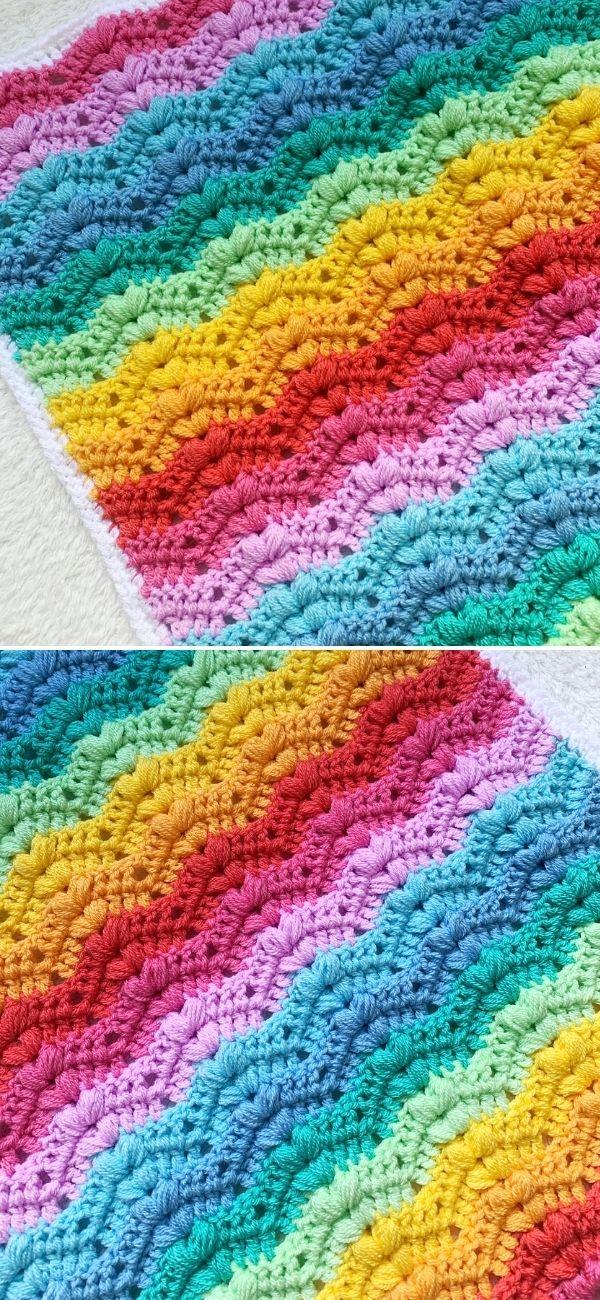 Bobble Ripple Baby Blanket