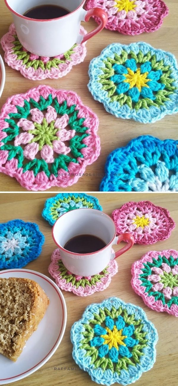 Rounds of Flowers Coasters