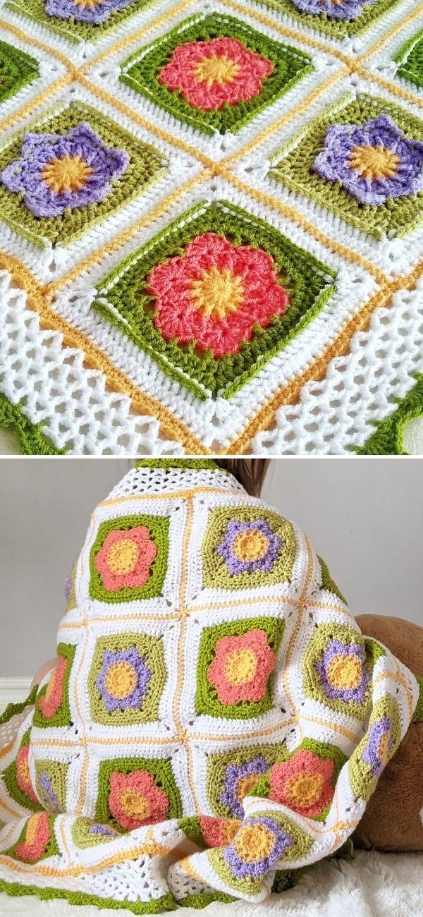 April Flowers Baby Blanket