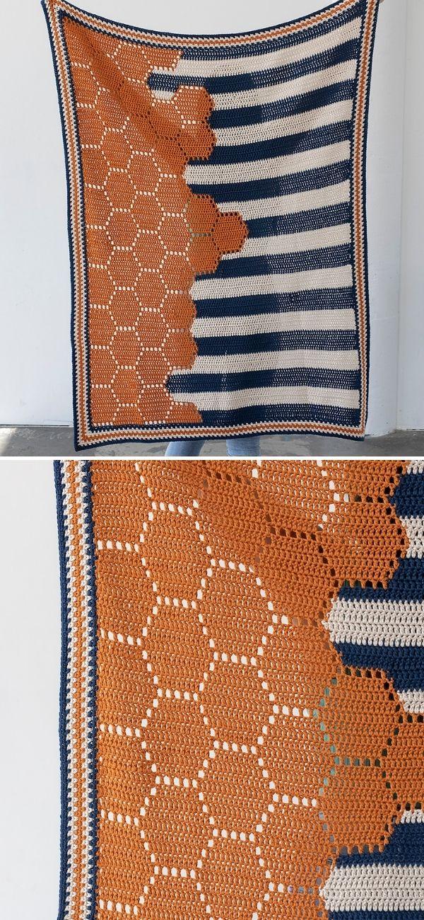 Boardwalk Hexie Blanket