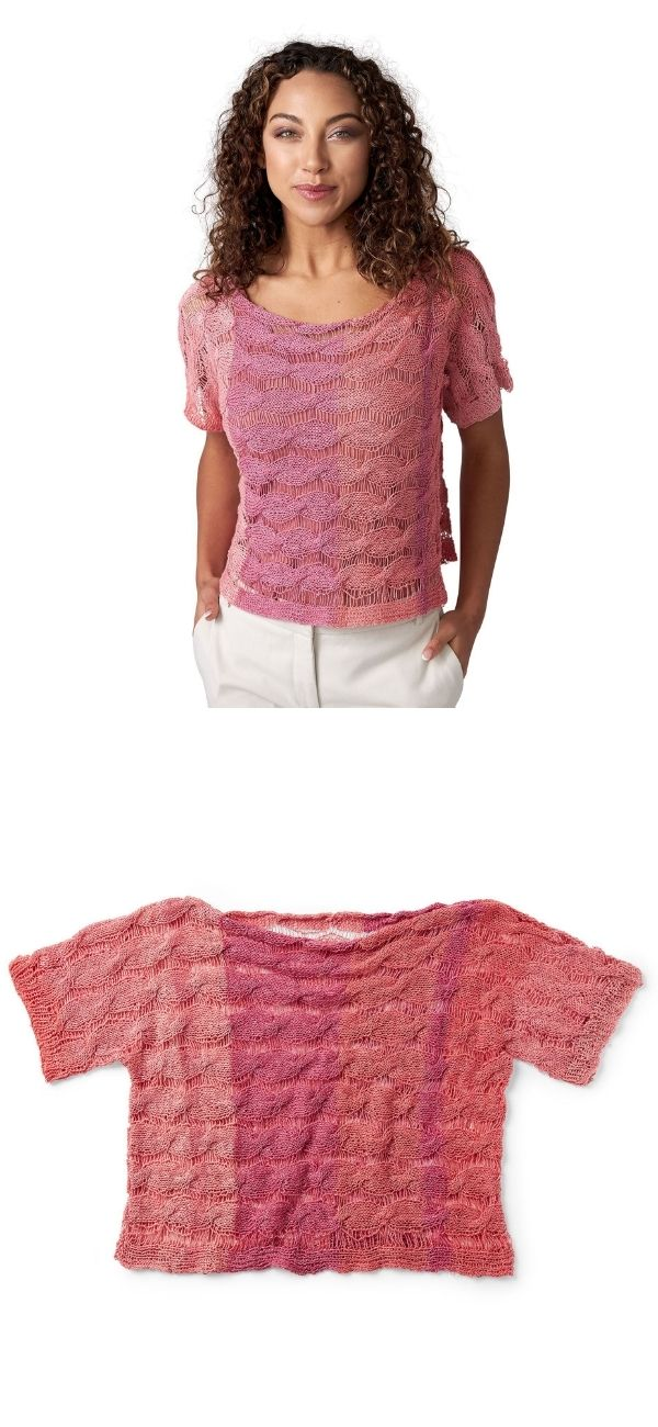Breezy Cabled Knit Top