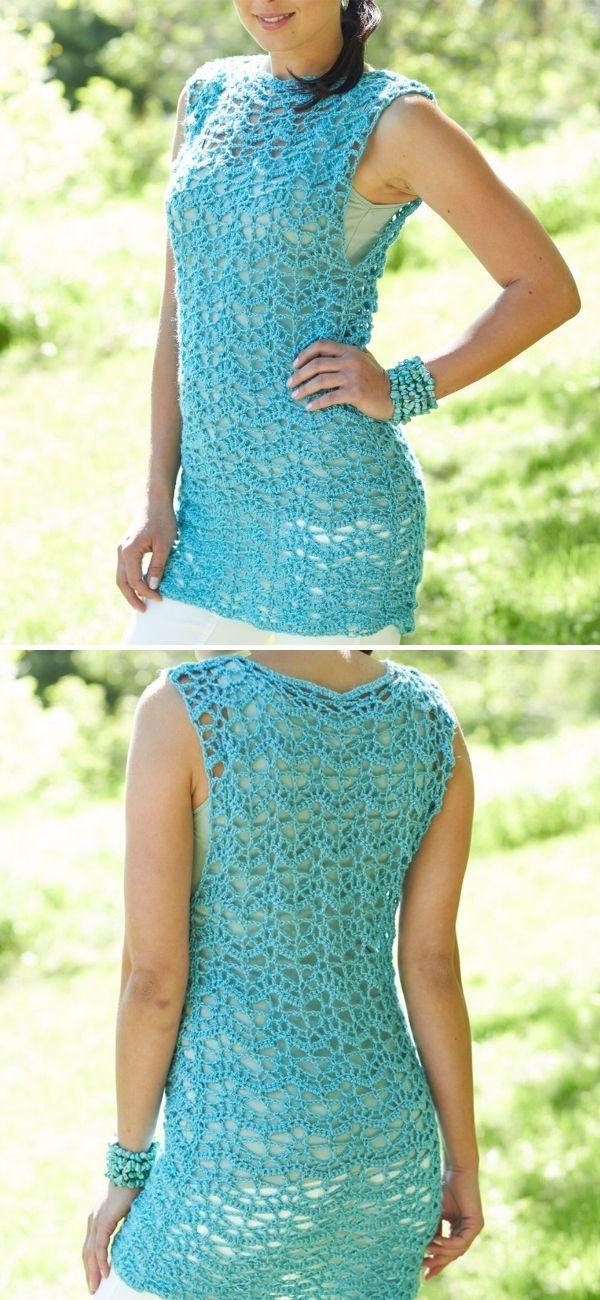 Caron Crochet Tunic