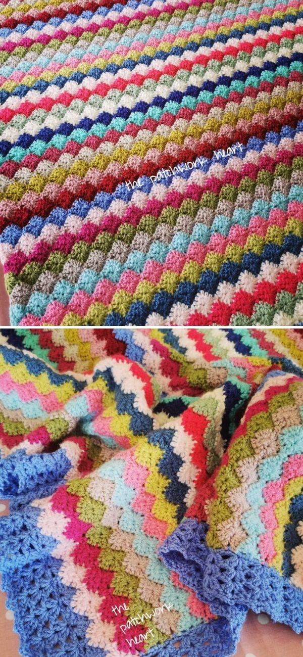 Crochet Baby Marly Harlequin Blanket
