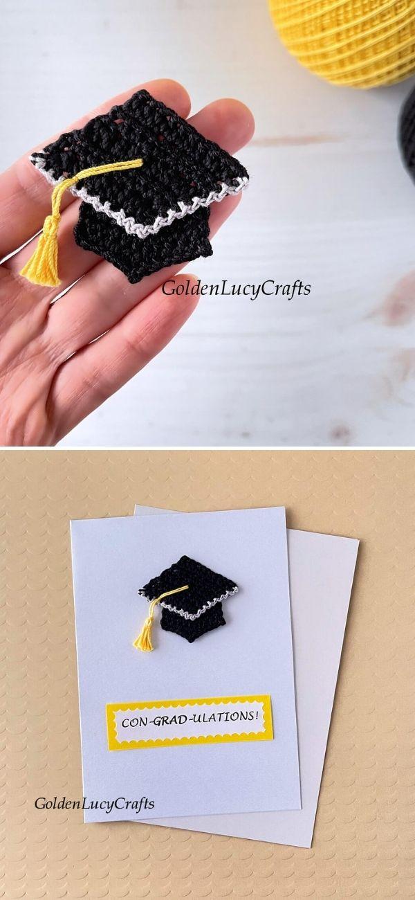 Graduation Cap Applique