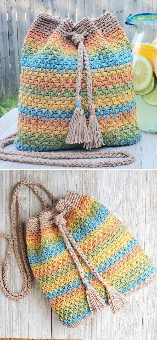 Summer Slice Drawstring Bag