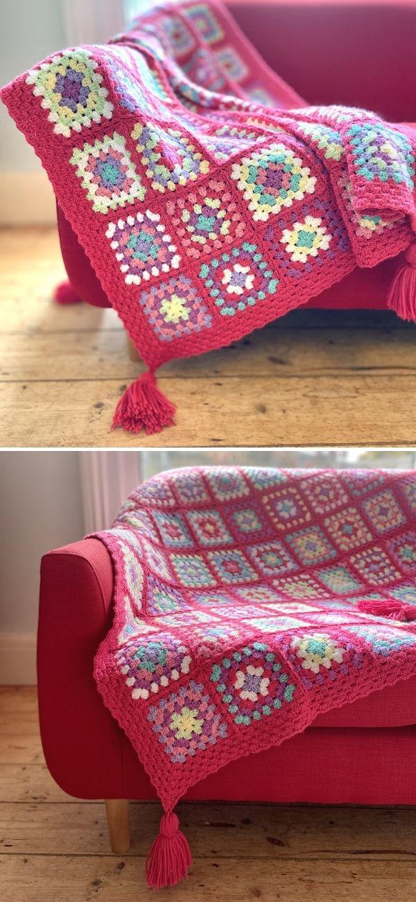 Vintage Rose Blanket 2