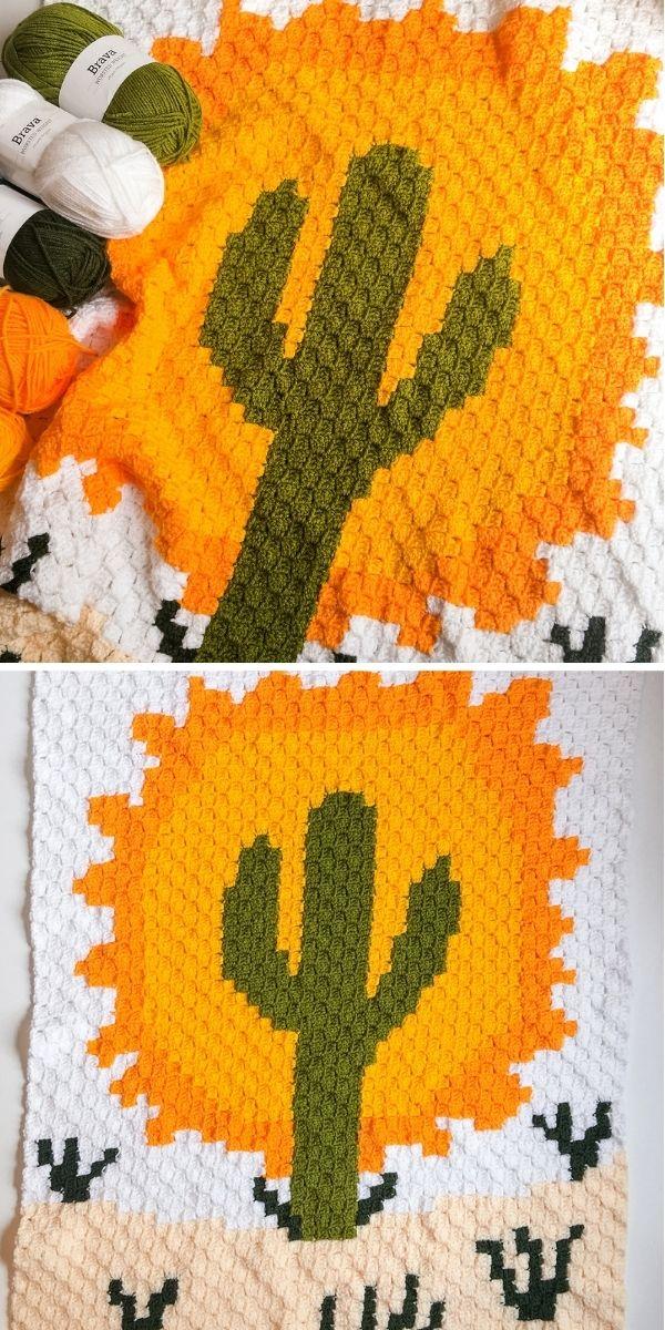 Desert Cactus C2C Throw