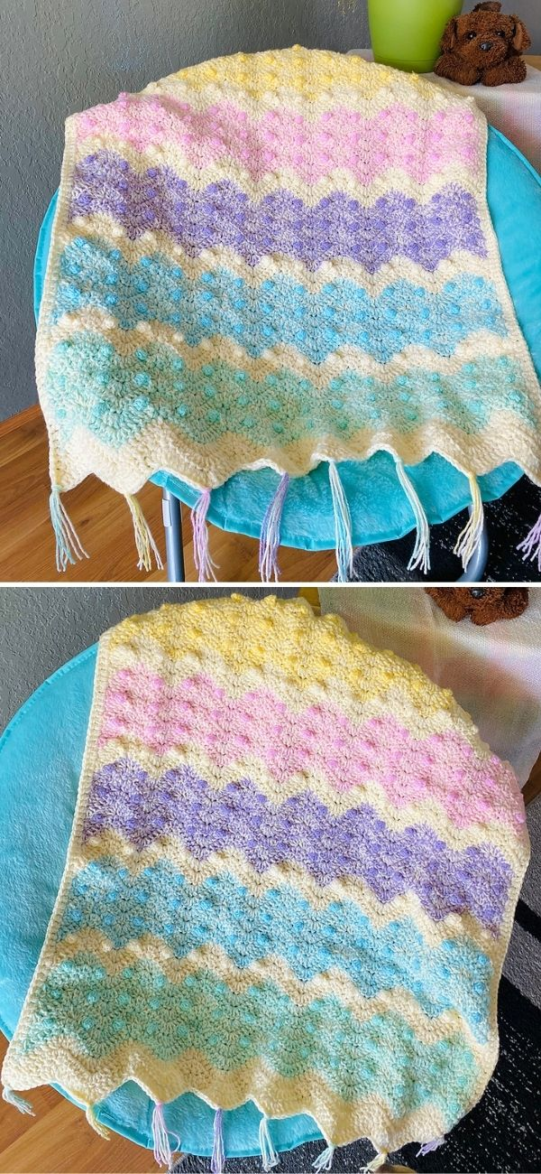 Easy Ripple Crochet Blanket