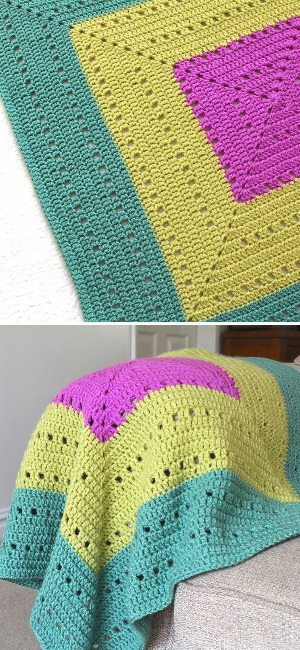 Ferne Granny Square Blanket