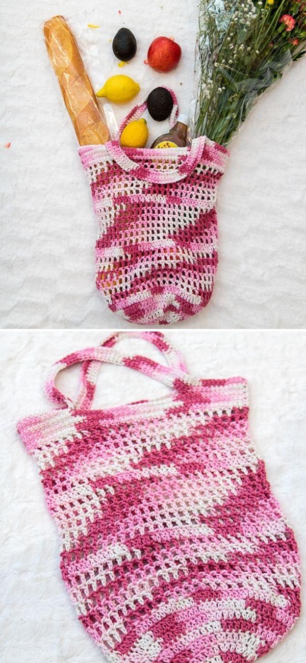 Filet Crochet Market Bag