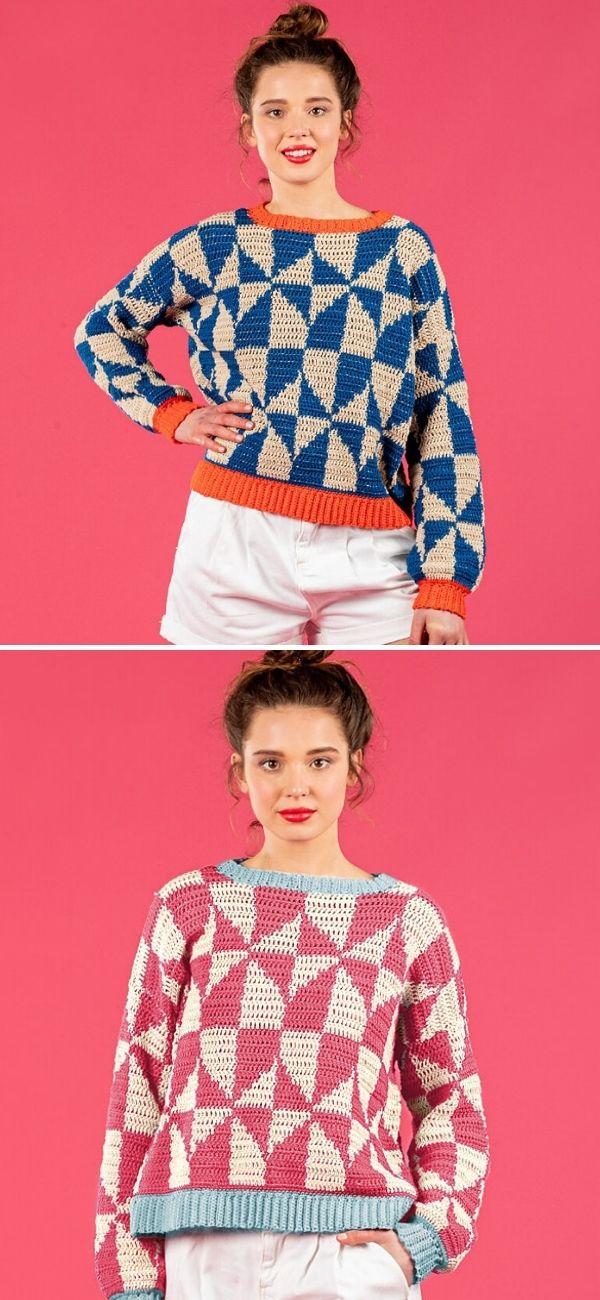Geometric Tile Sweater