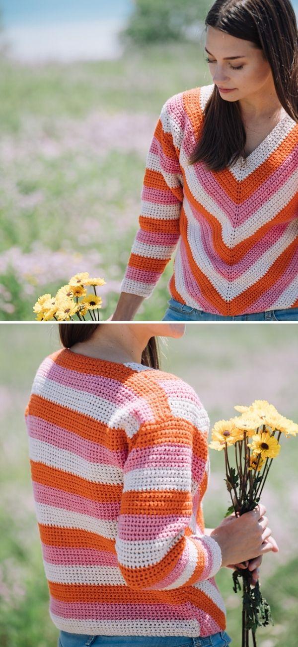 Ivanna Chevron Sweater