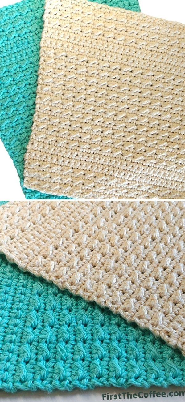 Cobblestone Stitch Dishcloth