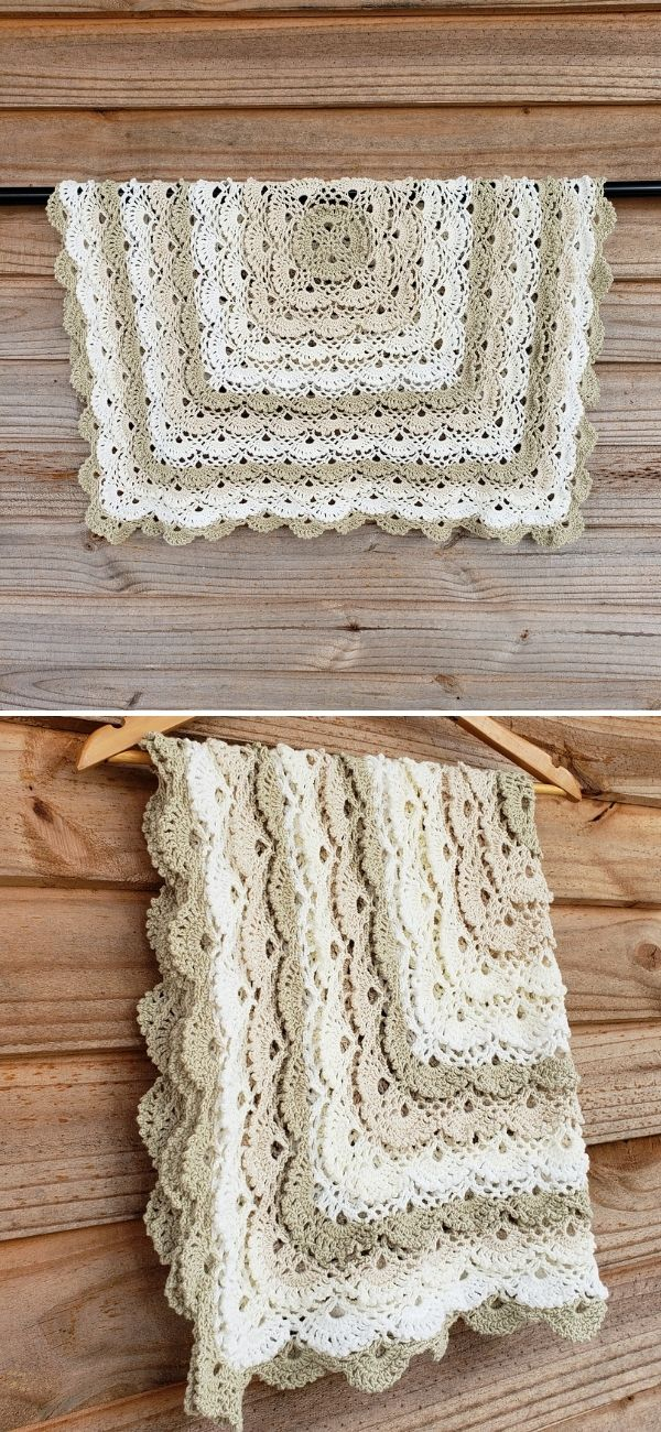 Fluffy Meringue Stitch Blanket