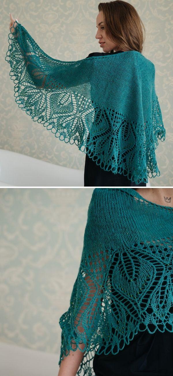 """«Grouse""""» Lace knit shawl"""
