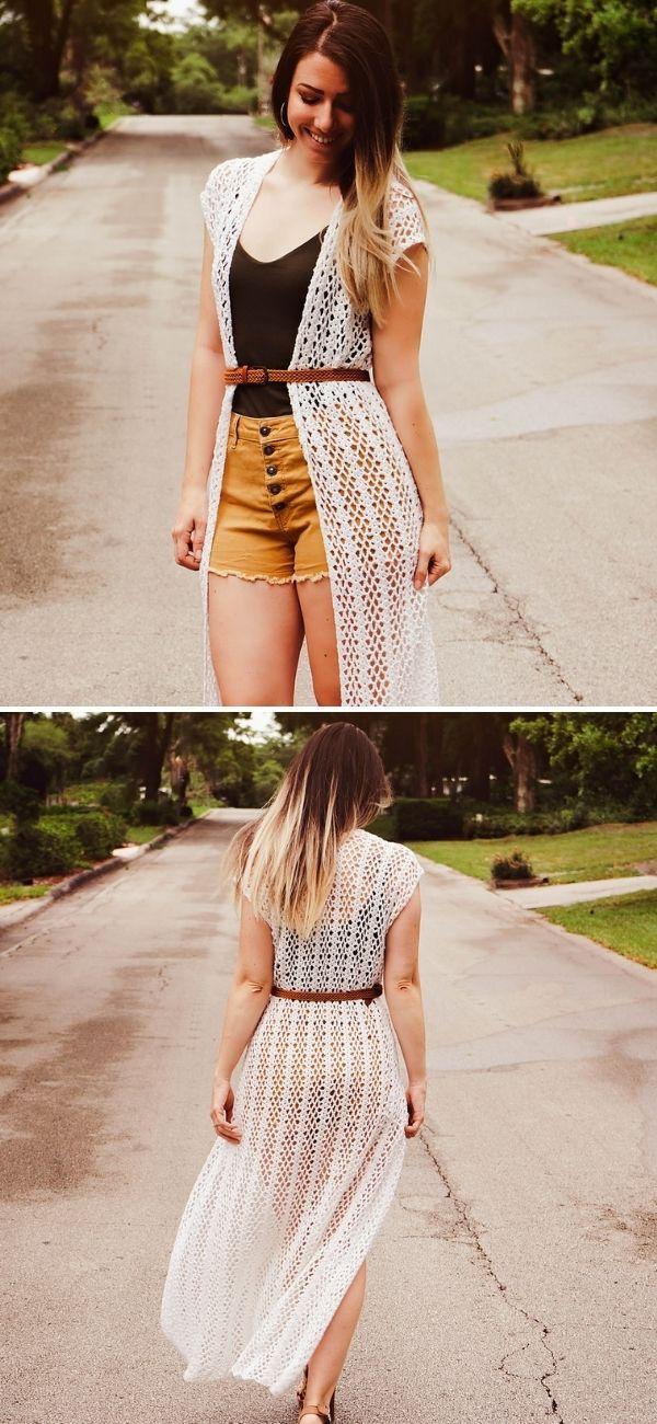 Long Summer Crochet Duster