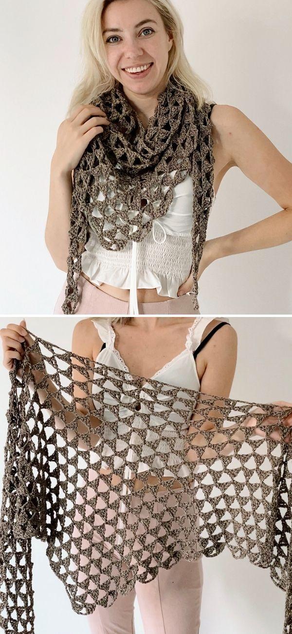 Tri tra triangle shawl