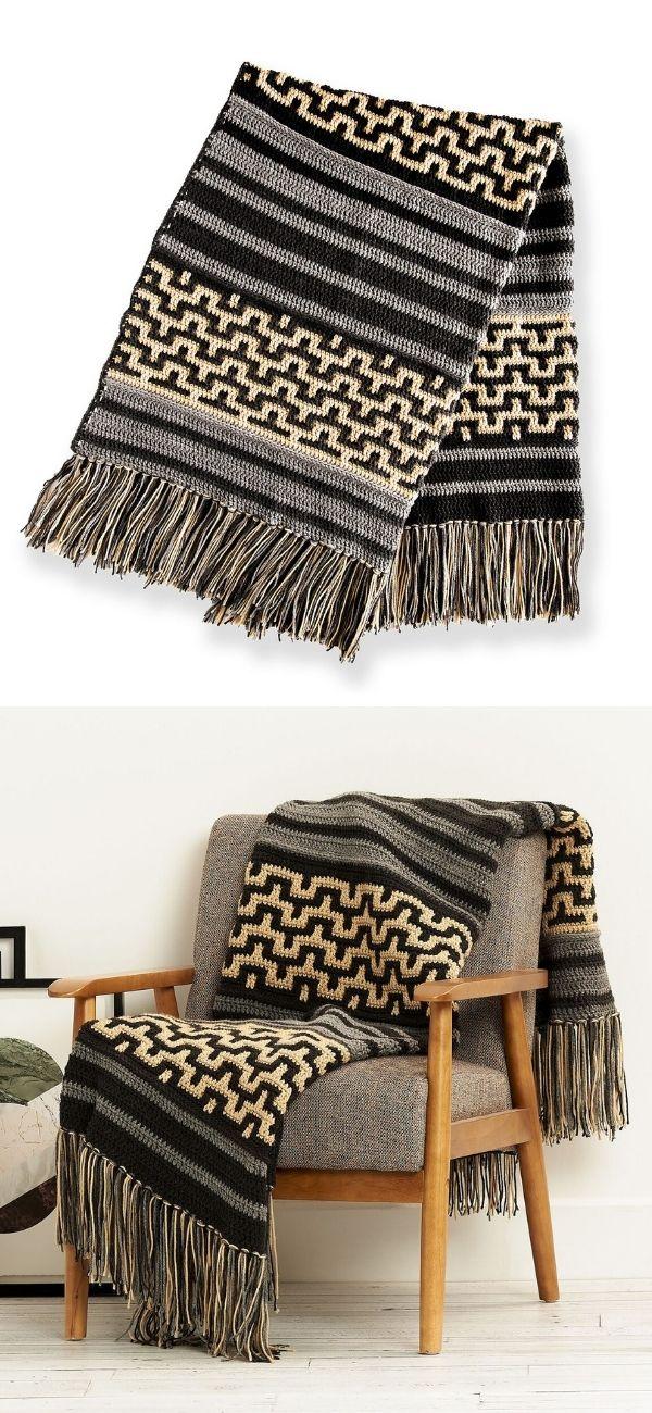 Mosaic Stitch Blanket