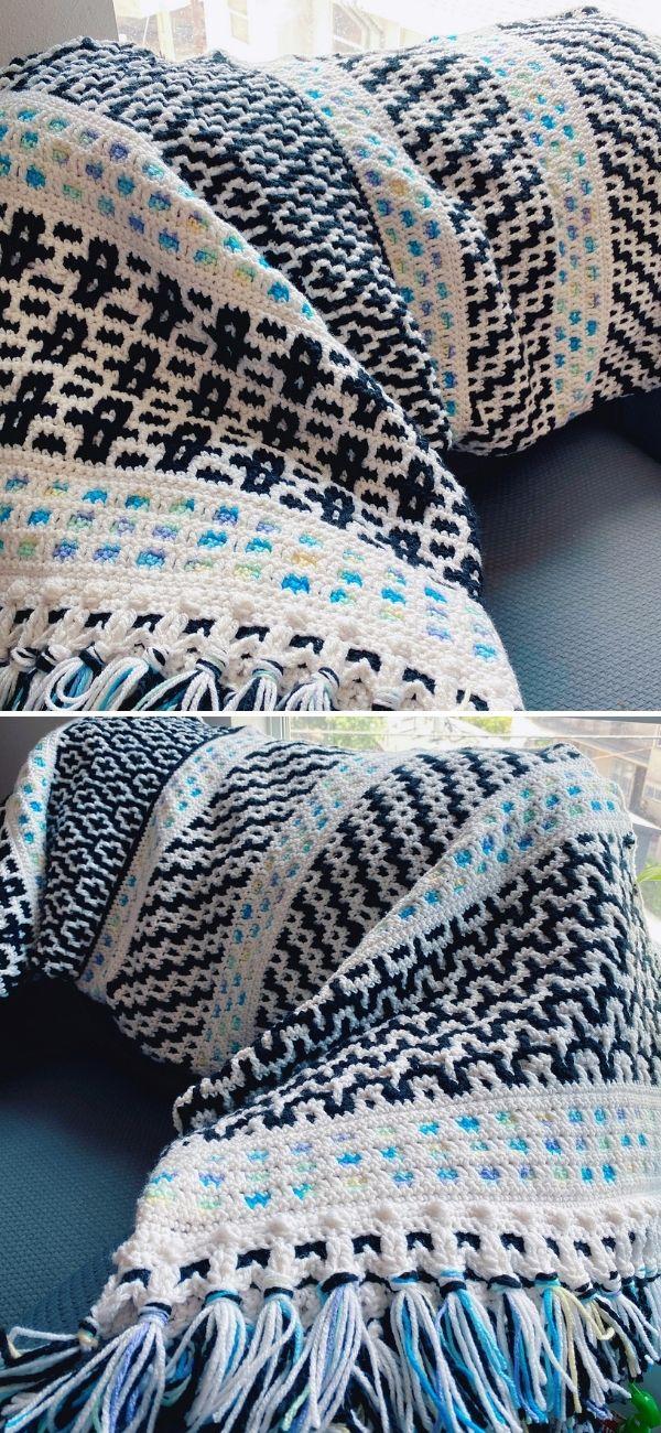 Woven Pattern Mosaic Blanket (remix)